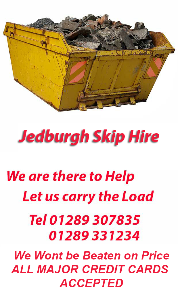 Jedbugh Skip Hire TD13 Postcode area contact